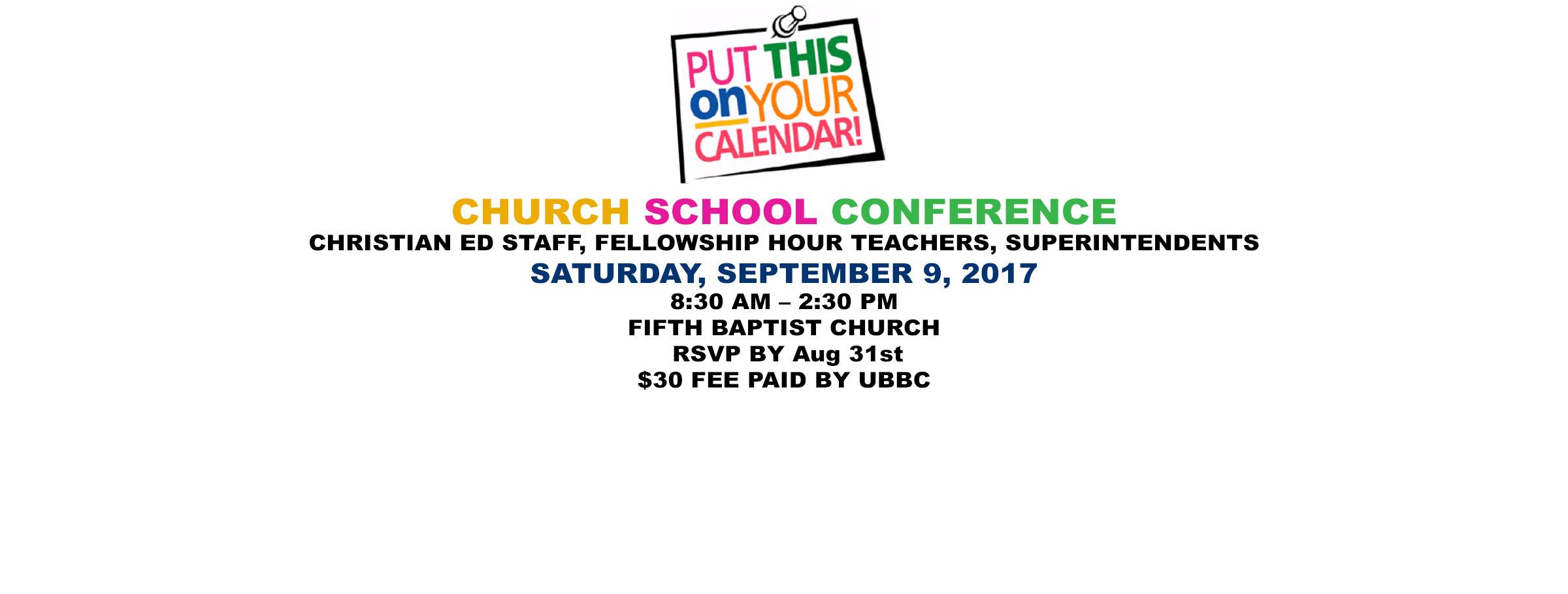 ChurchSchoolConference