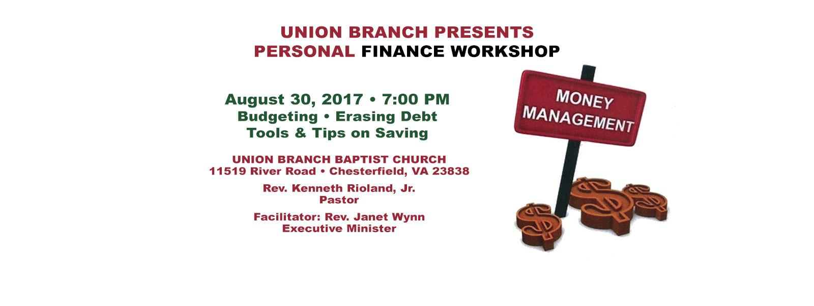 PersonalFinanceWorkshop
